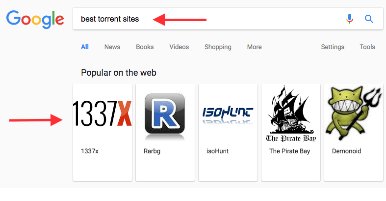 Google Search Results Torrent Pirate Sites